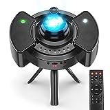 Sternenhimmel Projektor ohne Rauschen 2021 Neueste, 43 Projektionsmodi, Fernbedienung, Anti-LED-Sicherungsring Nachtlicht, 360°-Stativ, Lampe Sternenhimmel, Bluetooth-Modus, Timing-Modus, Hiroumer