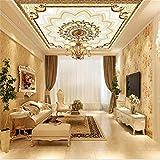 Sxjhds 3D Europäische Muster Deckentapete Wohnzimmer Hotel Deckenwandgemälde, 250 * 175Cm